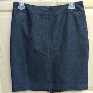 Dark chambray skirt